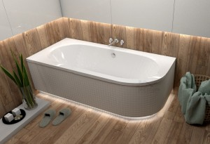 Badewanne Eckbadewanne Avita 180x80 cm links optional: Led-Verkleidung