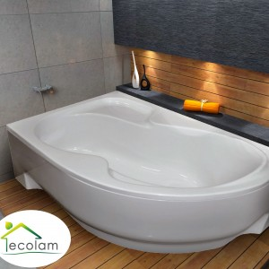 Badewanne Eckwanne Fortuna 170x100 cm links